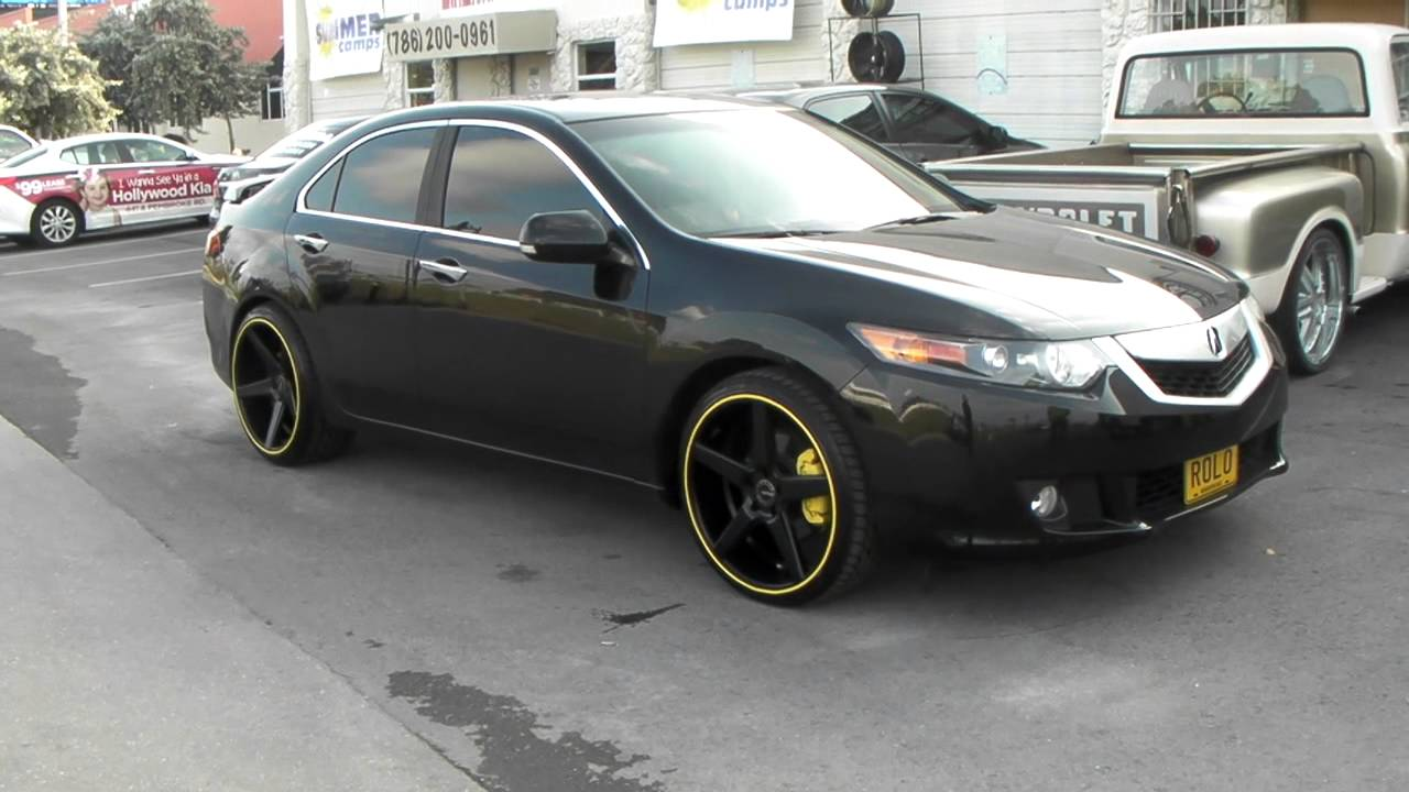 Inch KMC KM District Black Concave Wheels - Rims for acura tsx