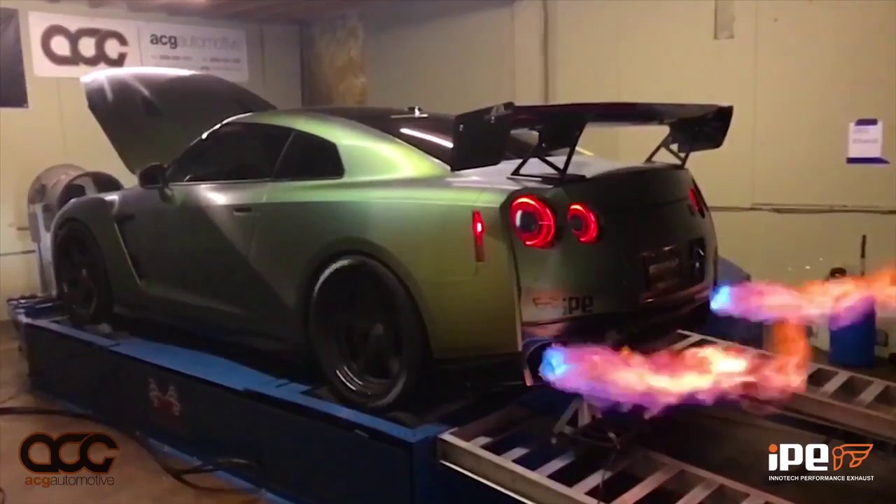 Car Spitting Flames Wallpaper Tanner Fox S 2017 Nissan Gtr With Titanium Ipe Exhaust
