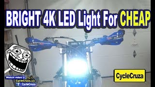 BRIGHT 4000 Lumens LED Light Bar | 2019 Yamaha YZ450FX Build