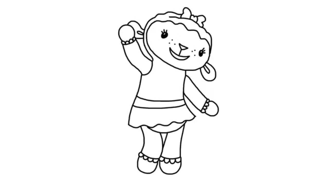 How To Draw Lambie From Doc McStuffins Episodes In Full