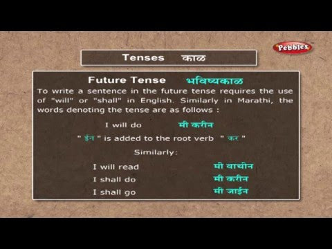 Learn Marathi Grammar | Learn Marathi Through English | Lear
