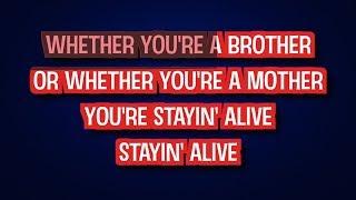 Bee Gees - Stayin' Alive (Karaoke Version)   TracksPlanet