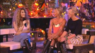 Beyonce chats to Lauren Laverne and Jo Whiley after her performance at Glastonbury 2011