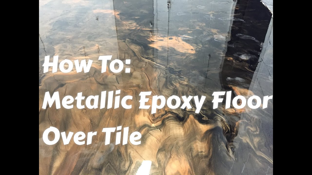 Linoleum Grau Metallic Epoxy Floors Over Tile How To Do It Start To Finish