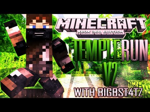 Minecraft (Xbox 360) - TEMPLE RUN V2 - Part 1 of 2 - The Start!