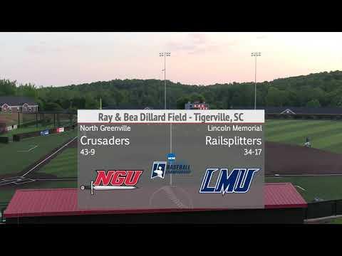 North Greenville Vs. Lincoln Memorial - NCAA Division II Southeast Regional Bracket #1 - Game 3