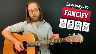 adding flair to the c, g, am - f chords
