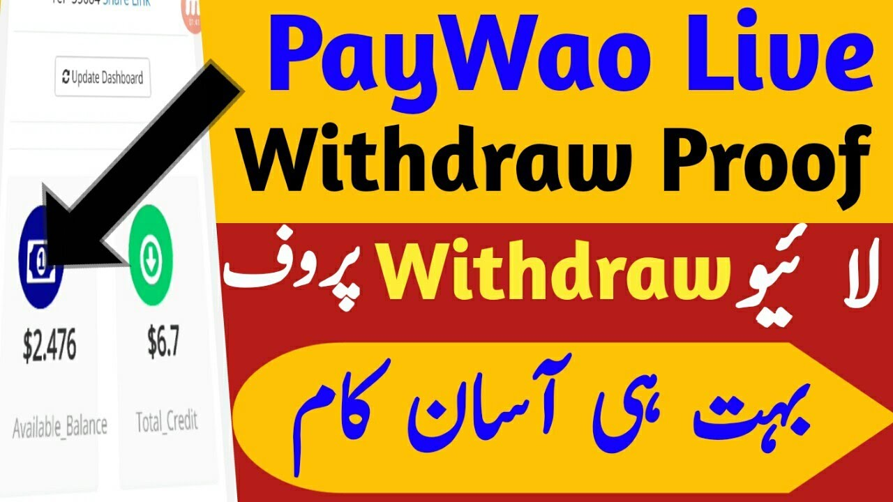 online earn money at home in pakistan PayWao live withdraw payment Proof