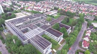 Hochschule Aalen Campus und Innovation Zentrum von oben