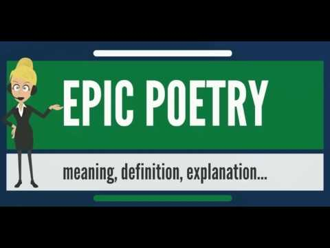 What is EPIC POETRY? What does EPIC POETRY mean? EPIC POETRY meaning, definition & explanation