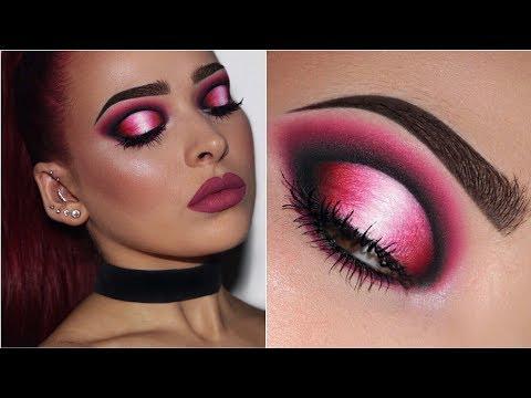 Black, Pink & White Ombré Halo Eye | Makeup Tutorial