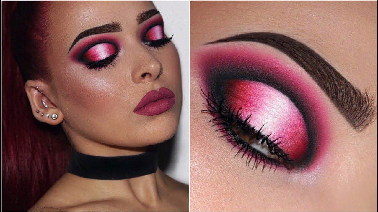 Black, Pink & White Ombré Halo Eye | Makeup Tutorial - YouTube