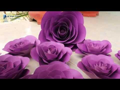 cách làm hoa giấy lớn - hướng dẫn cách làm