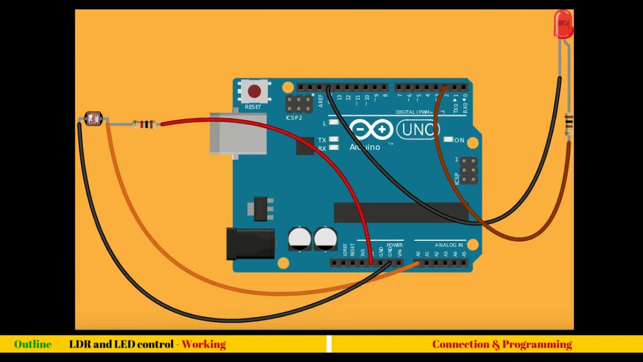 17. Interfacing LDR(light dependent resistor) with Arduino(ADC ...