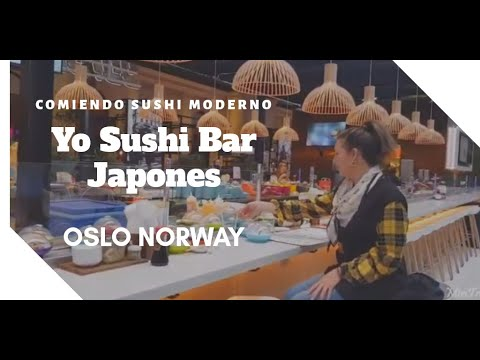 YO SUSHI Oslo Bar Japonés. Comiendo Sushi Moderno En  Noruega/FOOD/Travel