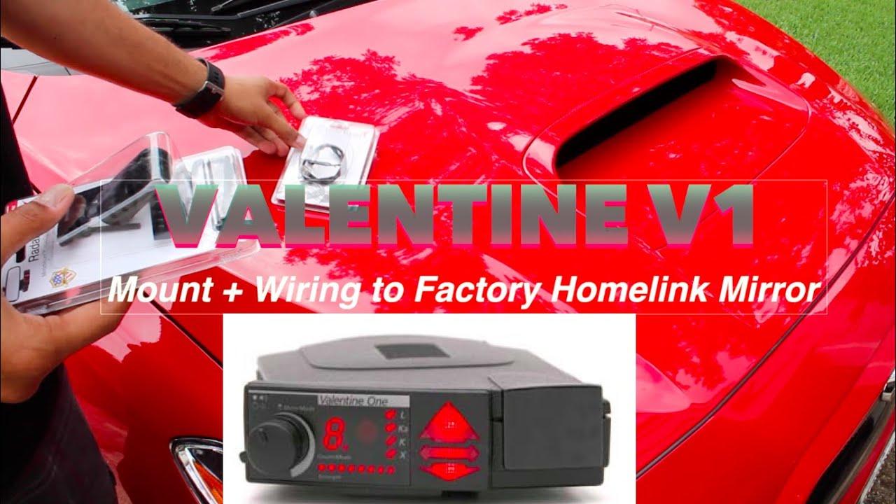 2017 WRX Valentine V1 Mirror Mount Install + Homelink Wiring - YouTube