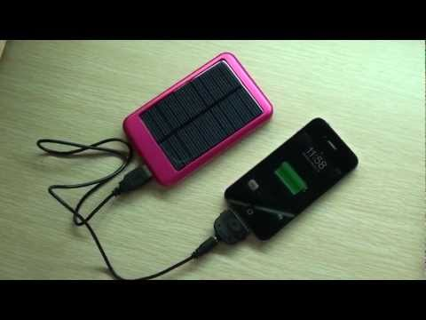 5000mAh Solar Powered USB Charging External Battery Pack(Red)