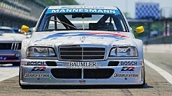"Mercedes-Benz C-Class DTM ""D2""(1994) driven by Bernd Schneider - Two 90s Legends at Monza Racetrack!"