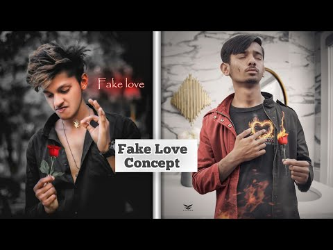 Fake Love Concept Photo Editing Tutorial In Picsart || Fake Love Photo Editing | Love Photo Editing