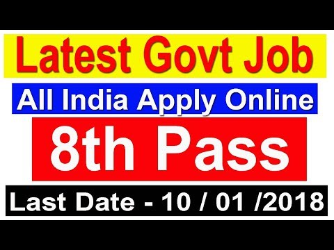 Apply Online Latest Government jobs 2018 Posts 8th Pass #Defence Job