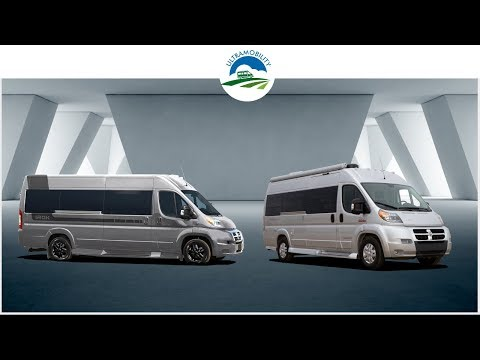 The Last 2 Under 21 Feet Gas Vans with Rear Sofa Bed Layouts | Pleasureway Lexor v Fleetwood IROK