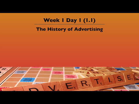 1. 1 The History of Advertising