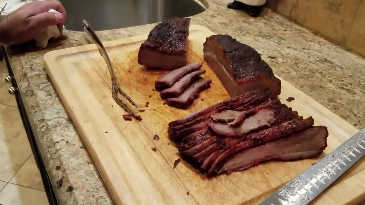 smoked brisket on a pellet grill the backyard griller youtube