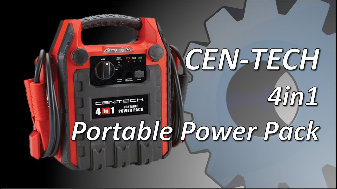 Cen Tech 4 In 1 Power Pack Jump Starter Youtube