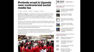 Social Media Tax Causes Protests in Uganda - July 13, 2018