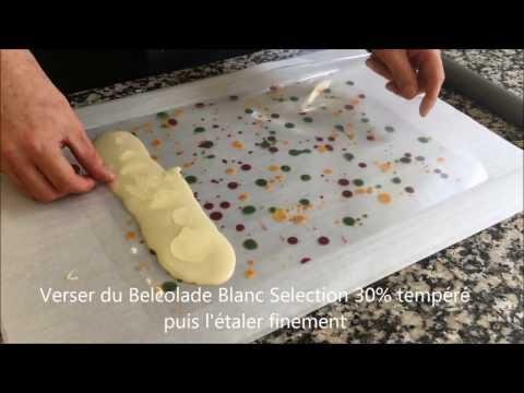 Belcolade Décor Chocolat Blanc pour Entremets