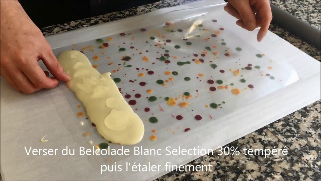 Belcolade Decor Chocolat Blanc Pour Entremets Youtube
