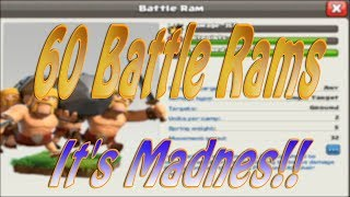"60 Battle Rams...It's Madness | NEW TROOP is HERE the ""Battle Ram"" in Clash of Clans"