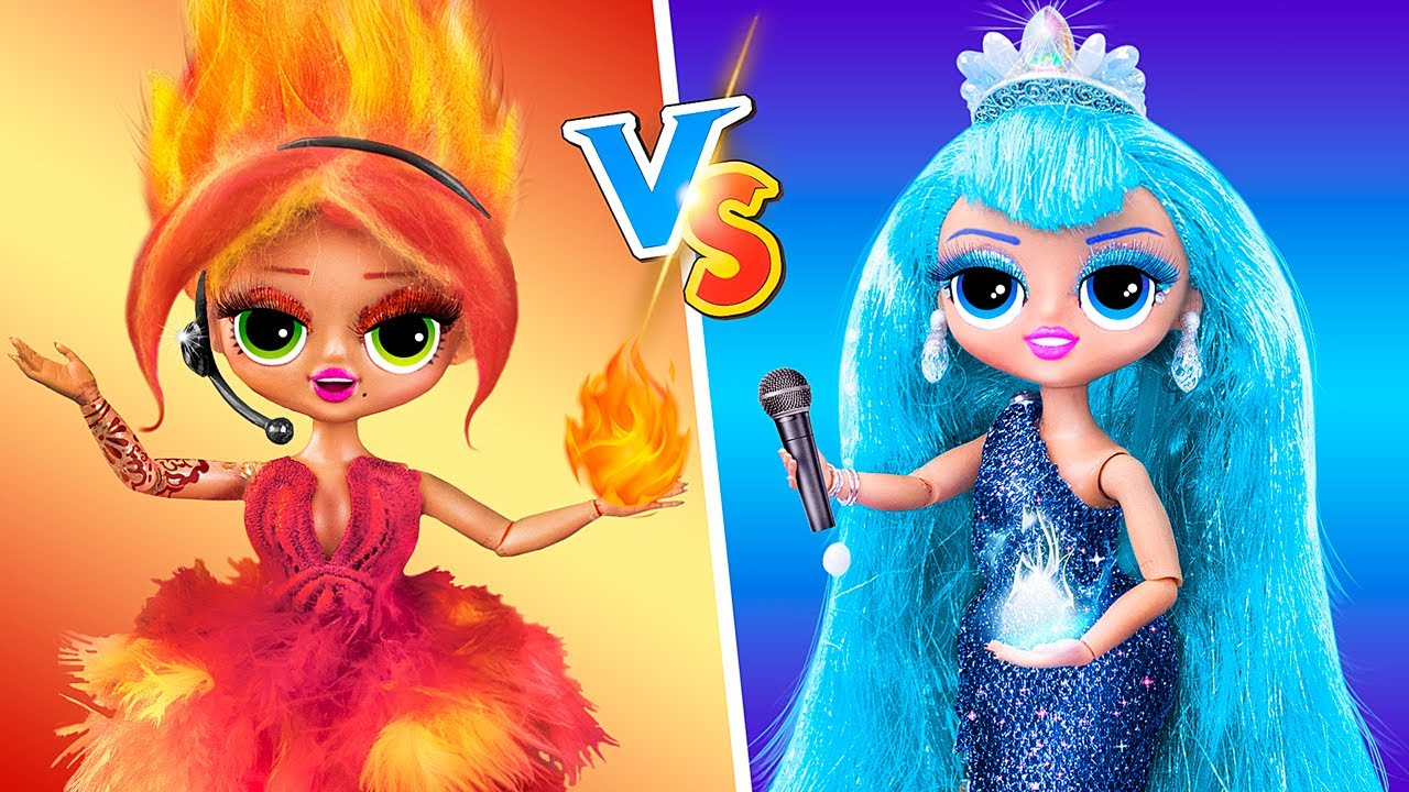 Thử Thách Nóng vs Lạnh / Tự Làm 14 Mẹo và Đồ Thủ Công Với Búp Bê LOL OMG