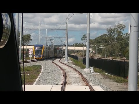 Drivers View Gold Coast Tram Helensvale to Hospital