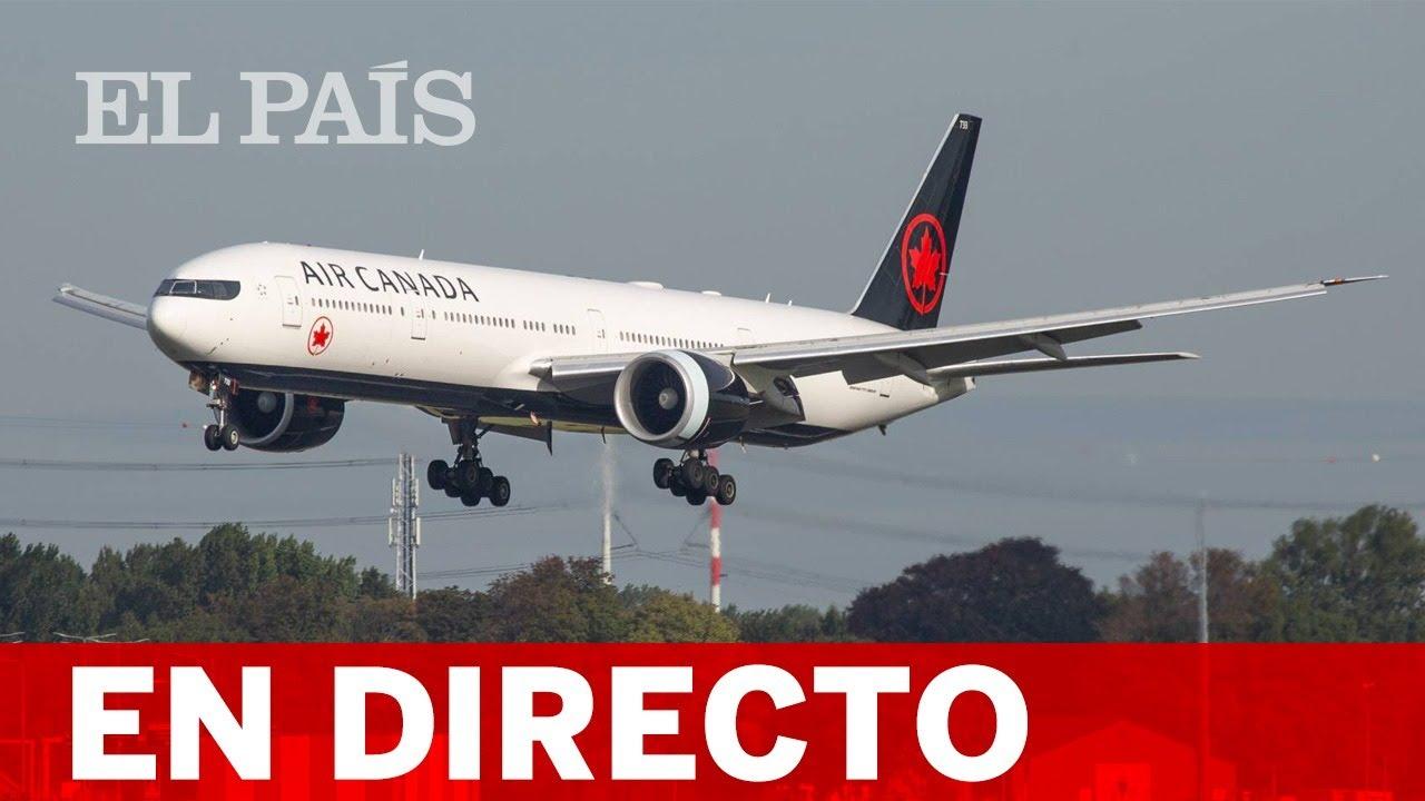 Resultado de imagen para ATERRIZA AVION DE CANADA AIR EN BARAJA MADRID, TRAS CINCO HORAS DE DAR VUELTAS EN EL ESPACIO