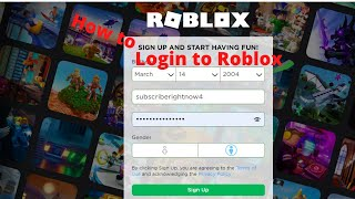 How to login t๐ Roblox