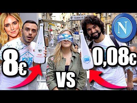 ACQUA 0,08€ vs ACQUA 8,00€ | CHIARA FERRAGNI CHALLENGE ai NAPOLETANI!