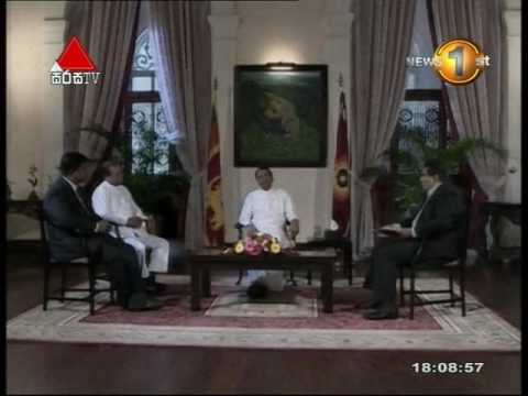 A Special Interview with President Maithripala Sirisena Sirasa TV 13th August 2016