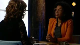 TV interview met Mercedes Zandwijken over de Keti Koti Tafel, 14 april 2013