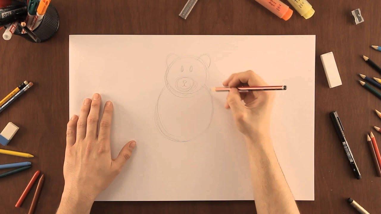 Worksheet. Cmo dibujar un oso  Dibujos de la Naturaleza  YouTube