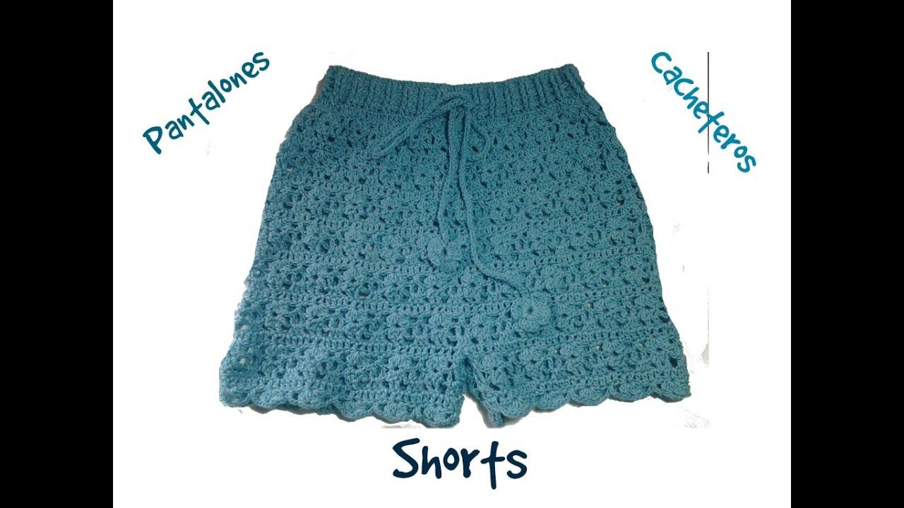 Pantalón, shorts o cacheteros a crochet 2ª parte #tutorial - YouTube