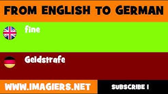 DEUTSCH   ENGLISCH  = Geldstrafe