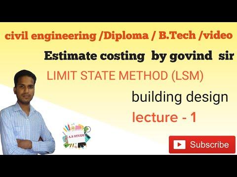 Estimate costing - building design lecture - 1 civil  engineering//Diploma/B Tech// video