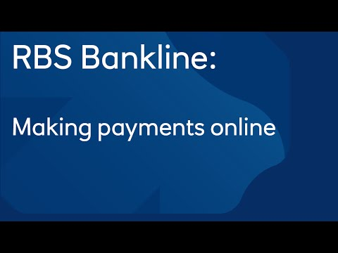 Making payments online: Royal Bank of Scotland Bankline