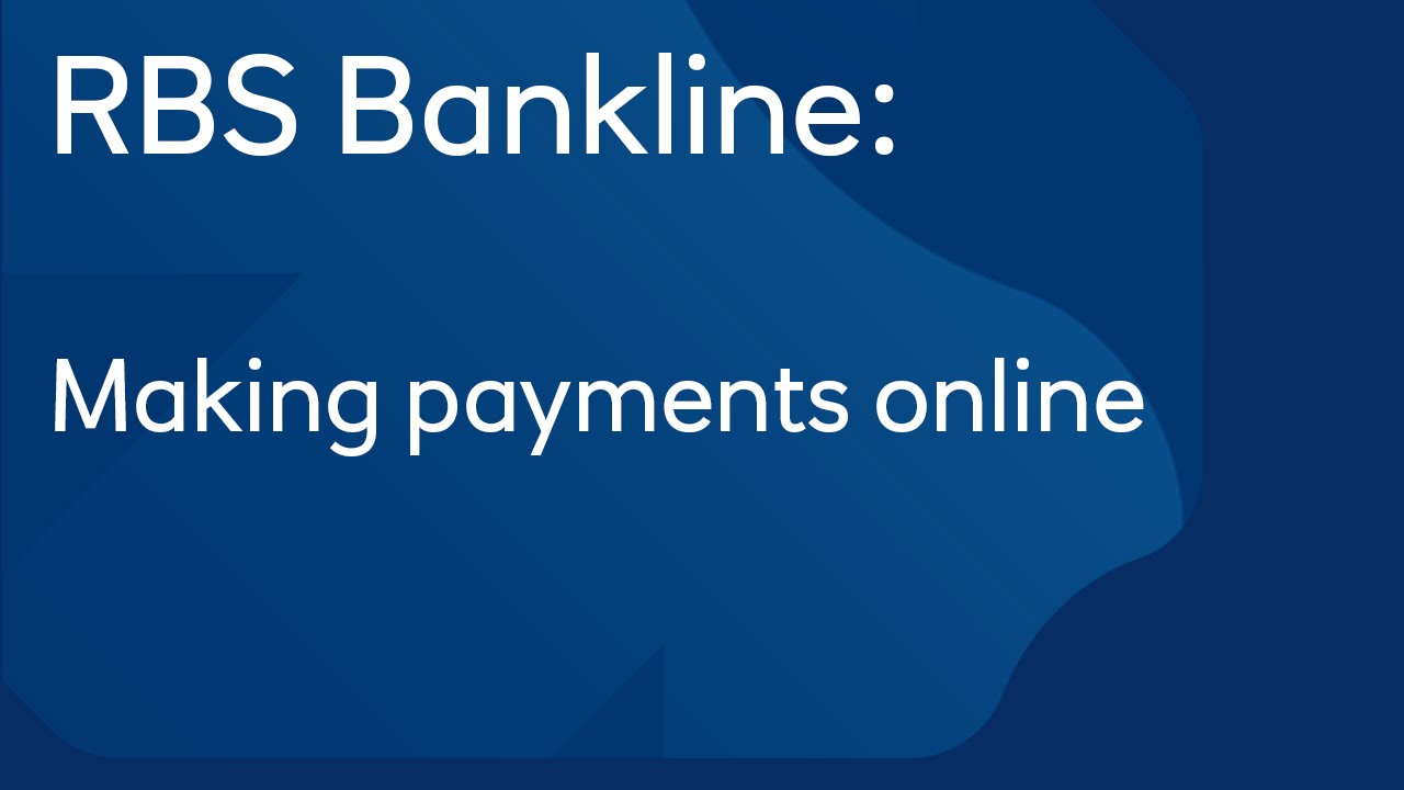 Making payments online: Royal Bank of Scotland Bankline - YouTube