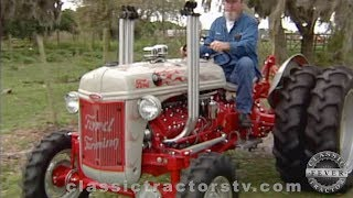 This is not your average 8n ford! curtis from the orlando, florida area has an extreme passion for classic ford tractors. his favorite heavily mo...