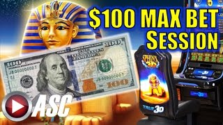 *$100 MAX BET SESSION* SPHINX 3D Slot Machine Bonus (Spielo)