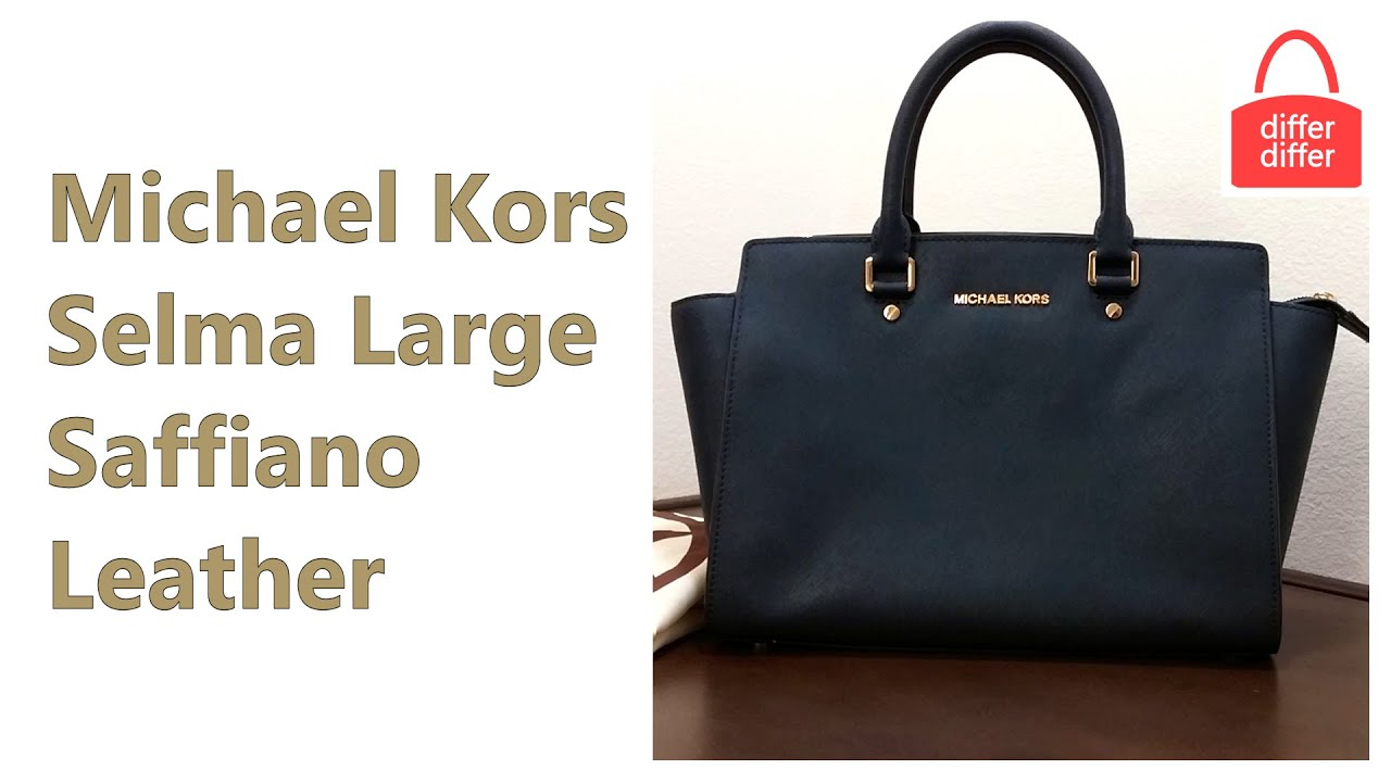 beee53859a50 Michael Kors Selma Large Saffiano Leather Satchel 30S3GLM7L - YouTube