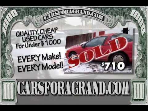 Cheap Used Cars Under 1 000 Carsforagrand Com