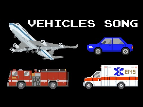Vehicles Song with The Kids' Picture Show | Cars, Trains, Pl